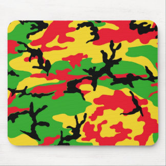 Rasta Colored Camouflage Mouse Mat