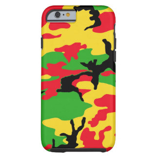 Rasta Colored Camouflage Tough iPhone 6 Case