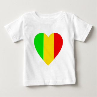 Rasta Colored Heart Baby T-Shirt