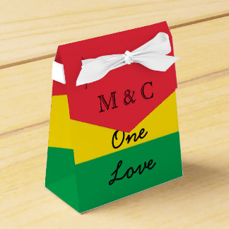 Rasta Colors Green Yellow Red Stripes Flag Pattern Favour Box