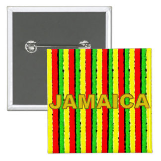 Rasta Colors Jamaica Red Gold and Green 15 Cm Square Badge