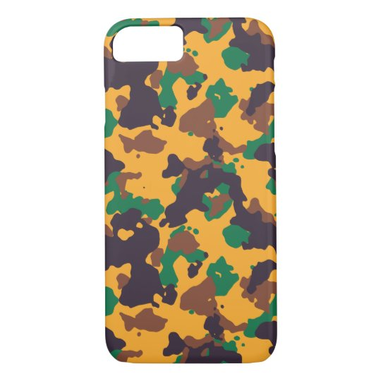 Rasta colourful camouflage pattern iPhone 7 case
