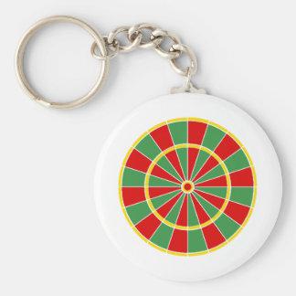 Rasta Dartboard Pattern Keychains