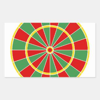 Rasta Dartboard Pattern Rectangular Sticker