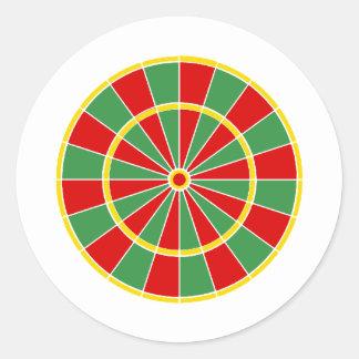 Rasta Dartboard Pattern Sticker