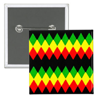 Rasta Diamonds. Red Gold and Green. Jah Rastafari 15 Cm Square Badge