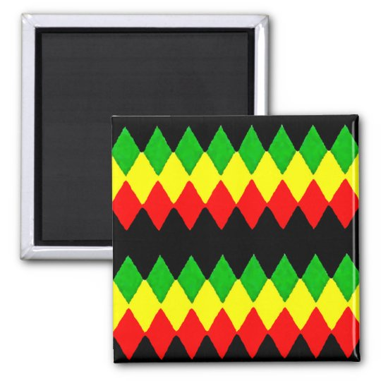 Rasta Diamonds. Red Gold and Green. Jah Rastafari Magnet
