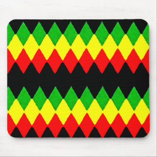 Rasta Diamonds. Red Gold and Green. Jah Rastafari Mousepad