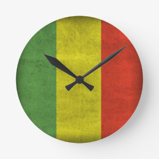 Rasta Flag Round Clock