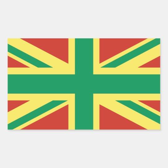 Rasta Flag UK Sticker
