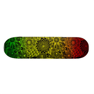 Rasta Flower Pattern 21.6 Cm Skateboard Deck