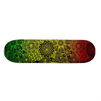 Rasta Flower Pattern Skate Boards