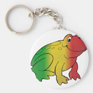 Rasta Frog Key Chains