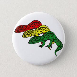 Rasta Geckos 6 Cm Round Badge
