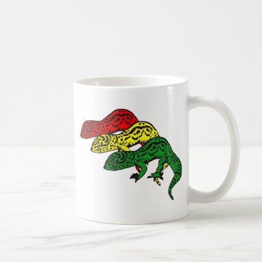 Rasta Geckos Basic White Mug
