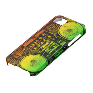 Rasta ghetto blaster iPhone 5 covers
