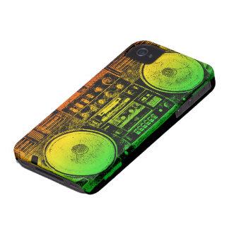 Rasta ghetto blaster iPhone 4 Case-Mate cases