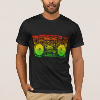 Rasta ghetto blaster T-Shirt