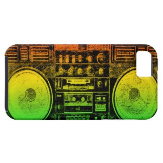 Rasta ghetto blaster tough iPhone 5 case