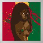 Rasta Girl Poster