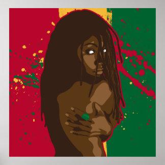 Rasta Girl Print