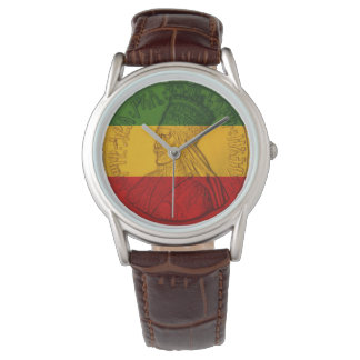 Rasta Haile Selassie Watch Rastafarian Colours