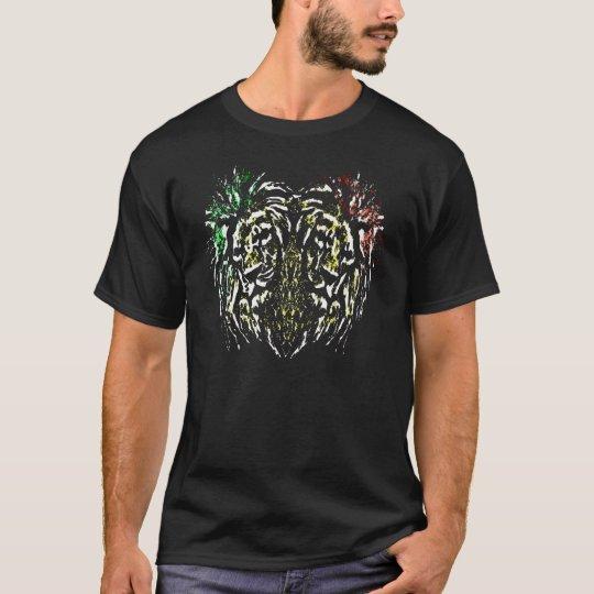RASTA HEART LION COLOR T-Shirt
