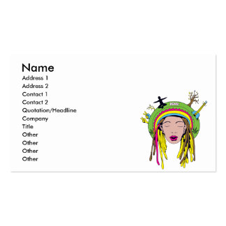 rasta hippie babe pack of standard business cards