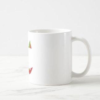 Rasta Jack-O-Lantern Basic White Mug