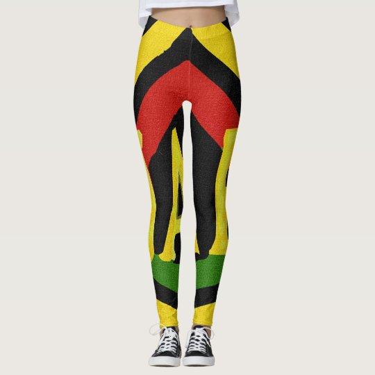 Rasta Jah Rastafari Red Gold Green Leggings