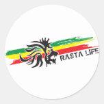 Rasta Life Round Stickers
