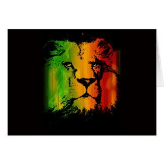 Rasta Lion Card