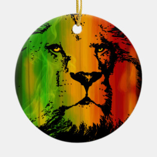 Rasta Lion Christmas Ornament