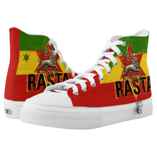 Rasta Lion of Judah Hi Tops Shoes Printed Shoes