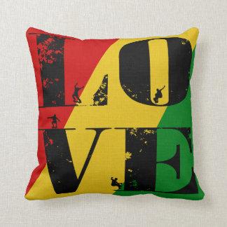 Rasta Love Word Art Skateboard Pillow Cushion