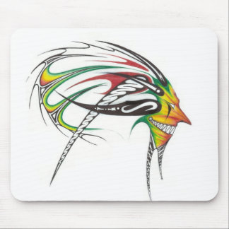rasta man tribal mouse pad
