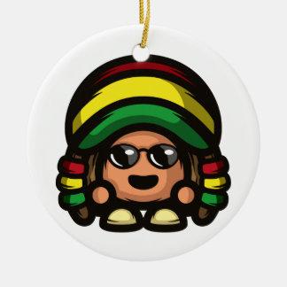 Rasta Mushroom Christmas Ornament