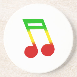 Rasta Music Note Coaster
