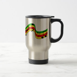 Rasta Music Staff Travel Mug
