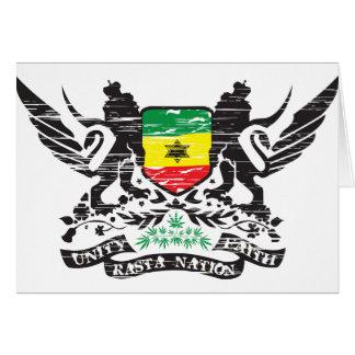 Rasta Nation Greeting Card