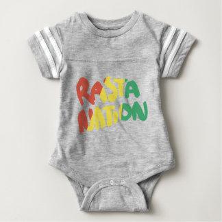 rasta nation reggae graffiti flag baby bodysuit