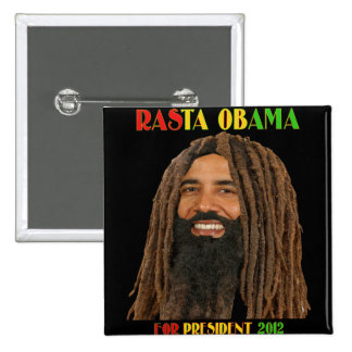 Rasta Obama for President 2012 15 Cm Square Badge