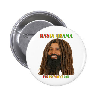 Rasta Obama for President 2012 6 Cm Round Badge