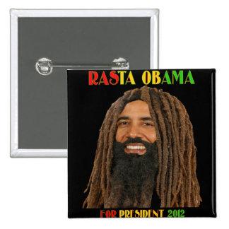 Rasta Obama for President 2012 15 Cm Square Badge
