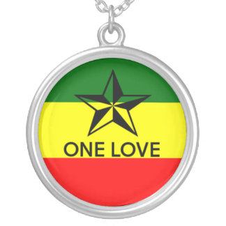 Rasta One Love Necklace Pendant