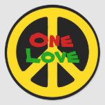 Rasta One Love Sticker