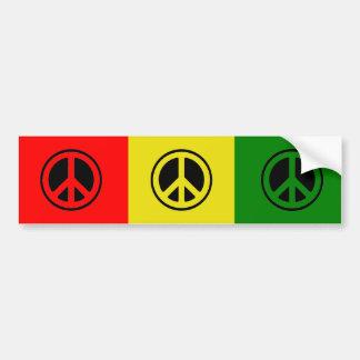 Rasta Peace Bumper Sticker