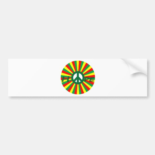Rasta Peace Hope Bumper Sticker