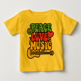 Rasta Peace Love and Music Baby T-Shirt