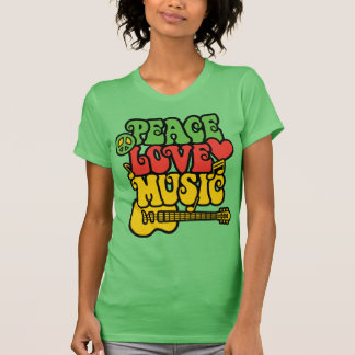 Rasta Peace Love and Music T-Shirt